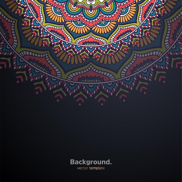 Fondo de diseño de mandala ornamental de lujo colorido