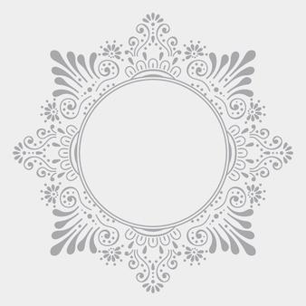 Fondo de diseño de mandala ornamental de lujo
