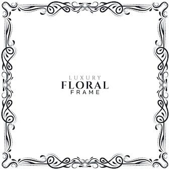 Fondo de diseño de marco floral étnico abstracto