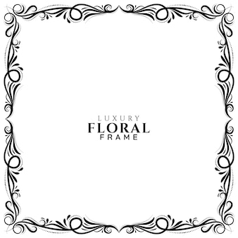 Fondo de diseño de marco floral étnico