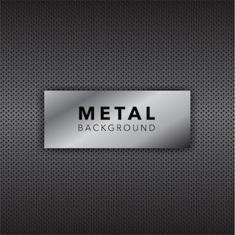 Fondo con diseño de metal