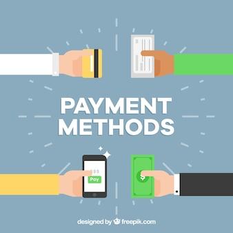 Fondo con diseño de métodos de pago