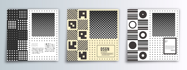 Fondo de diseño minimalista banner cuadrado