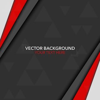 Fondo con diseño negro y rojo