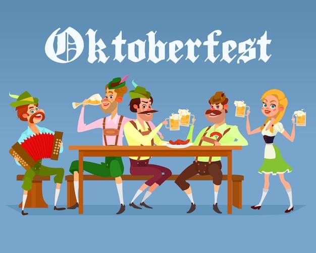 Fondo con diseño de oktoberfest