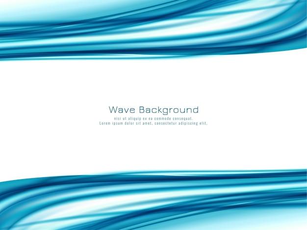 Fondo de diseño de onda azul abstracto