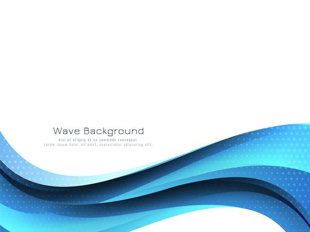 Fondo de diseño de onda azul que fluye moderno