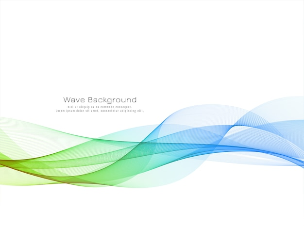 Fondo de diseño de onda colorido moderno