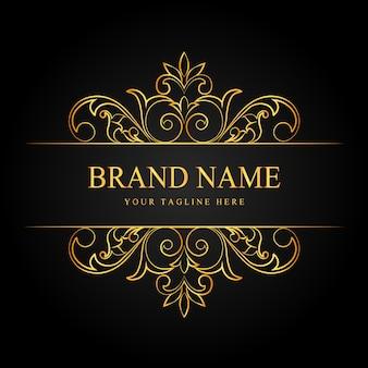 Fondo de diseño ornamental de lujo