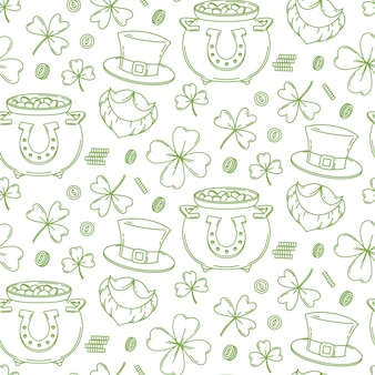 Fondo de diseño de patrones sin fisuras del día de san patricio