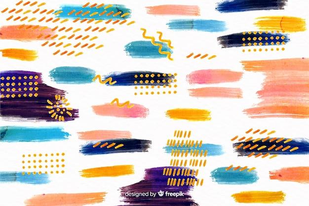 Fondo de diseño de pintura de trazos de pincel