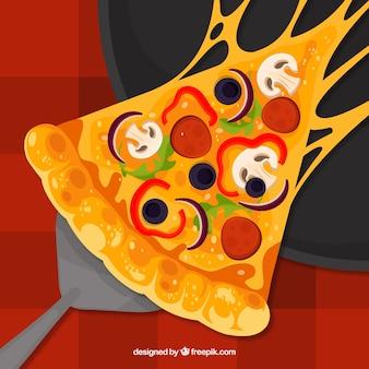 Fondo con diseño de pizza