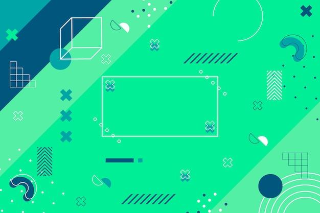 Fondo de diseño plano abstracto geométrico