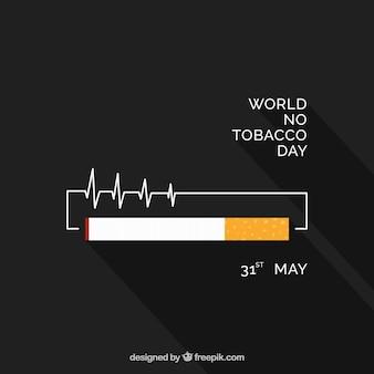 Fondo en diseño plano con cigarrillo