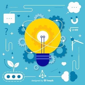 Fondo diseño plano concepto pensar