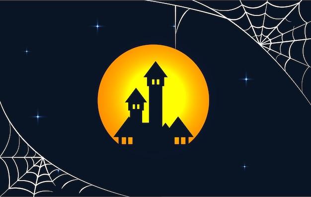 Fondo de diseño plano para halloween