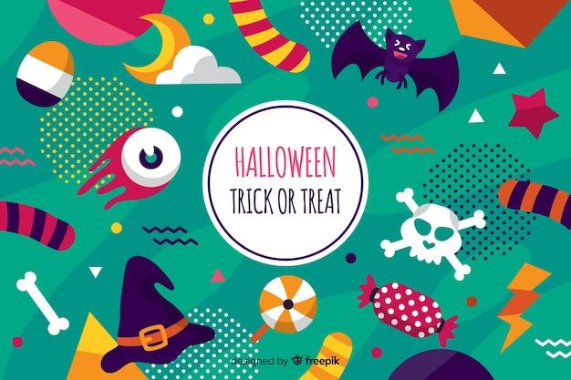 Fondo en diseño plano para halloween