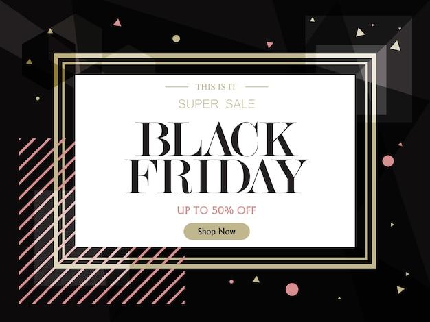 Fondo de diseño de plantilla de banner de venta. venta de viernes negro