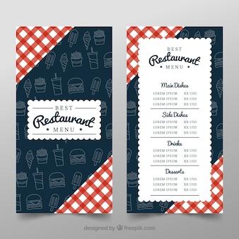 Fondo con diseño de restaurante