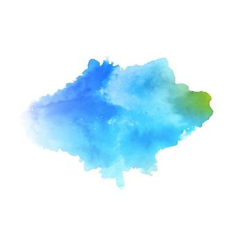 Fondo de diseño de salpicaduras de acuarela azul abstracto