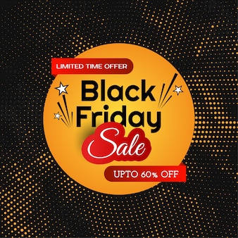 Fondo de diseño de semitono de venta de viernes negro