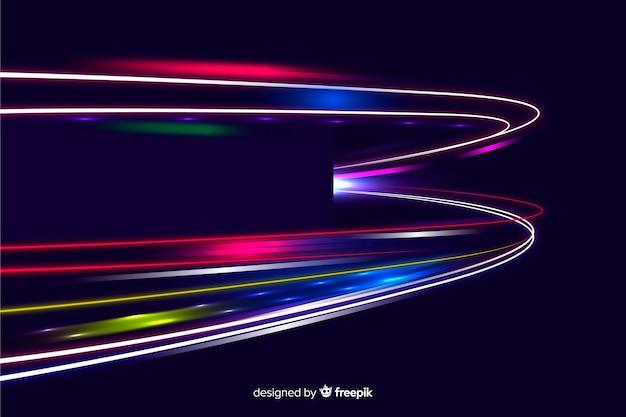 Fondo de diseño de sendero de luces de alta velocidad