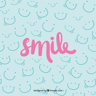 Fondo con diseño de sonríe