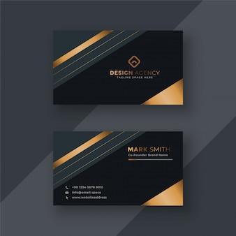 Fondo de diseño de tarjeta de visita premium