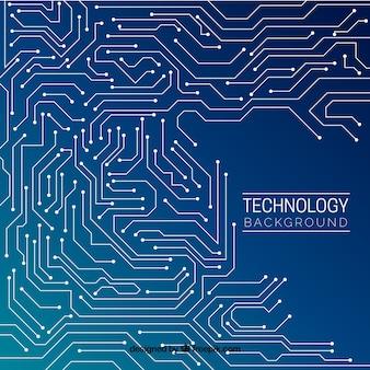 Fondo con diseño de tecnología