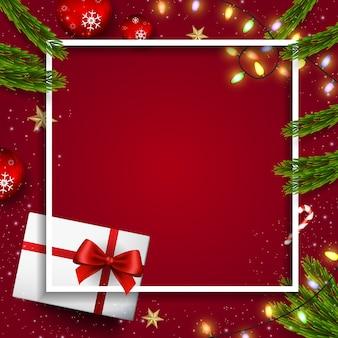 Fondo de diseño de vectores de navidad