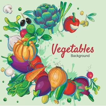 Fondo con diseño de verduras