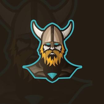 Fondo con diseño de vikingo