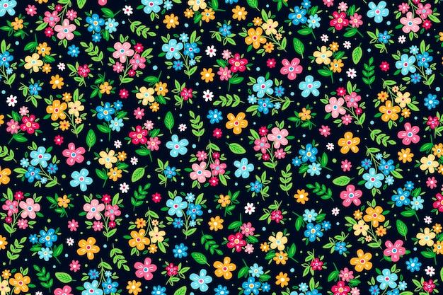 Fondo ditsy estampado floral colorido