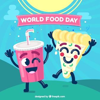 Fondo divertido del día mundial de la comida