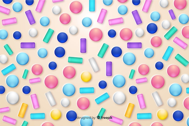 Fondo divertido esmalte donut colorido