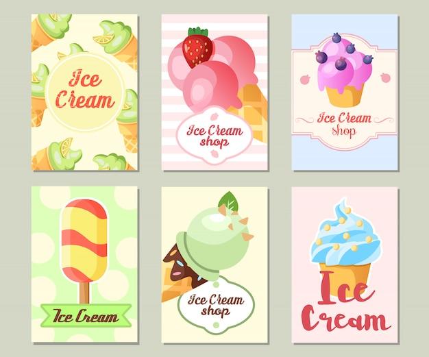 Fondo divertido del helado.
