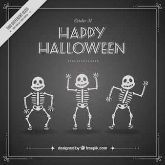 Fondo de divertidos esqueletos