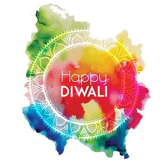 Fondo de diwali de la acuarela