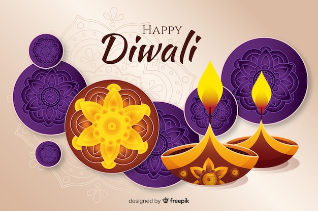 Fondo de diwali dibujado a mano