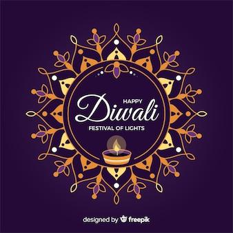 Fondo de diwali en diseño plano