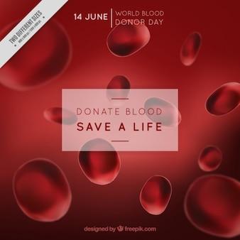 Fondo de dona sangre