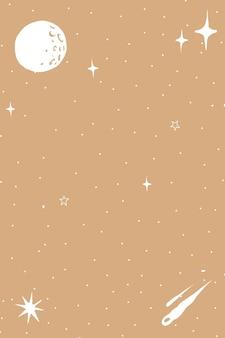 Fondo de doodle de espacio ultraterrestre