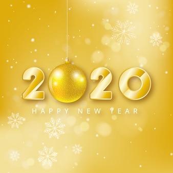 Fondo dorado año nuevo 2020