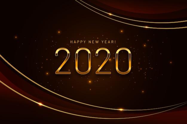 Fondo dorado de año nuevo 2020