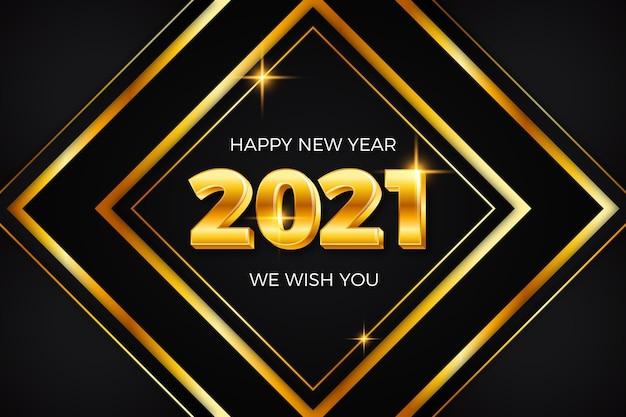 Fondo dorado año nuevo 2021