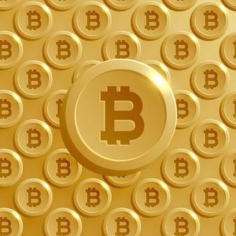 Fondo dorado de bitcoin