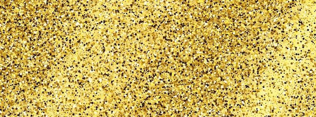 Fondo dorado brillante con destellos dorados y efecto brillo. diseño de banner. espacio vacío para su texto. ilustración vectorial