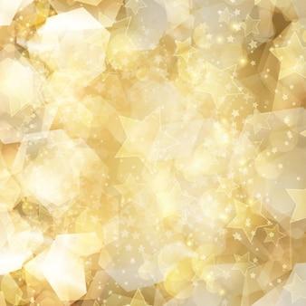 Fondo dorado brillante con estrellas
