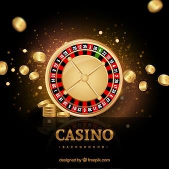 Fondo dorado de casino