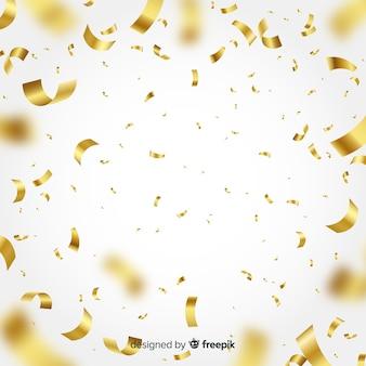 Fondo dorado de confetti
